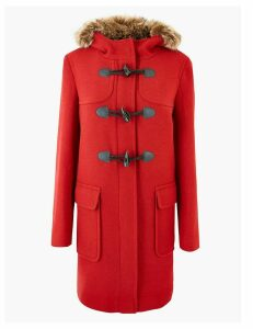 M&S Collection Hooded Duffle Coat