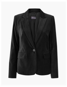 M&S Collection Velvet Fitted Blazer