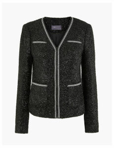 M&S Collection Sparkle Tweed Blazer