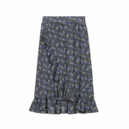 Edana Printed Skirt with Mini Ruffles