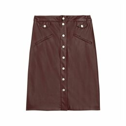 FIONA Straight Buttoned Skirt
