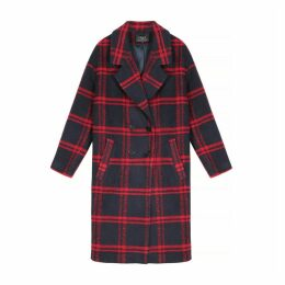 Selyna Long Checked Coat