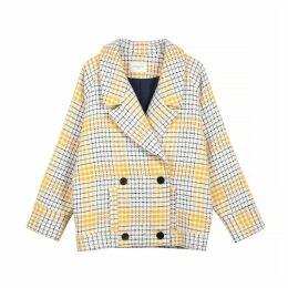 Shani Short Checked Coat