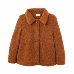 Caprice Cropped Buttoned Coat
