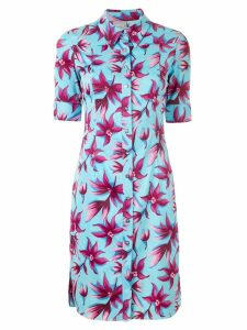 Versace Pre-Owned floral shirt dress - Blue