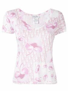 Christian Dior Pre-Owned floral Trotter pattern T-shirt - Pink
