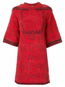 Chanel Pre-Owned shoulders panel knitted dress - Red