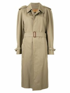 Burberry Pre-Owned midi belted trench coat - Brown