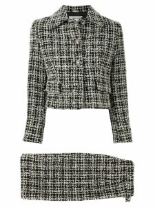Versace Pre-Owned bouclé tweed skirt suit - Black