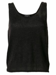Chanel Pre-Owned knitted tank top - Grey