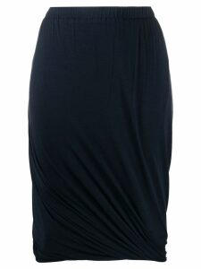 Lanvin Pre-Owned 1990's draped skirt - Blue