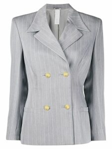 Versace Pre-Owned 1980's pinstriped blazer - Grey