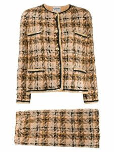 Chanel Pre-Owned 1990s tweed skirt suit - Neutrals
