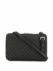 Céline Pre-Owned Macadam pattern crossbody bag - Black