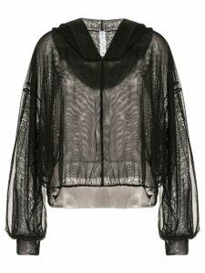 Alo Yoga mesh panel hoodie - Black