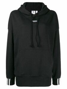 adidas logo hooded sweatshirt - Black