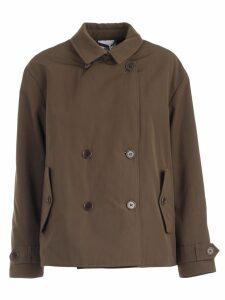 Aspesi Jacket Double Breasted Faux Fur Inside