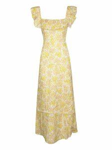 Zimmermann Goldie Ruffle Neck Long Dress