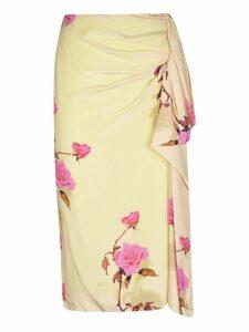Dries Van Noten Floral Gathered Skirt
