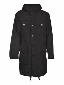 Dries Van Noten Hooded Buttoned Coat