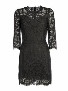 Dolce & Gabbana Lace Details Dress/viscosa