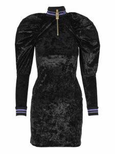 Gcds Puffed Shoulders Mini Dress