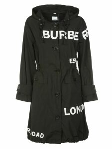 Burberry Logo Print Coat