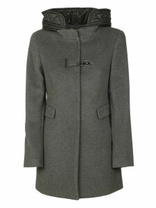 Fay Side Flap Pocket Front Lock Detail Parka