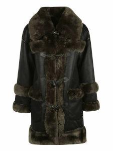 urbancode Furry Detail Toggle Lock Reversible Long Coat