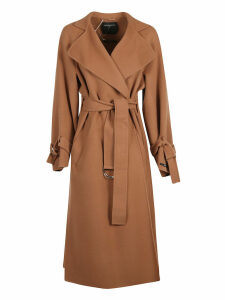 SportMax Wrapped Style Belted Waist Long Coat