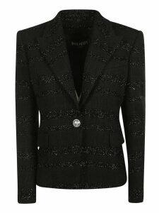 Balmain Single Button Glittery Detail Blazer