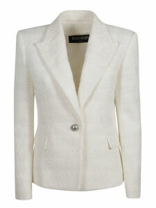 Balmain Single Button Glittery Detail Blazer