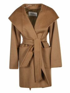 Max Mara Belt-tie Patch Pocket Coat