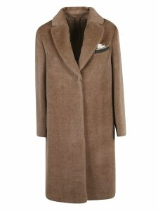 Brunello Cucinelli Concealed Long Open Coat