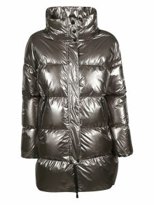 Herno Metallic High Neck Zipped Parka