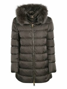 Herno Fur Collar Zipped Classic Padded Parka