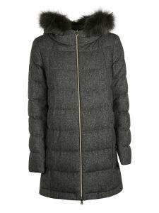 Herno Fur Hood Detail Zipped Parka