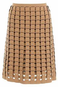 Bottega Veneta Woven Rubber Skirt