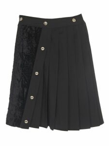 Versace Jeans Couture Black Pleated Skirt