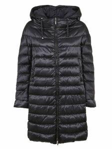 Black Technical Fabric Padded Coat