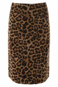 Rokh Faux Fur Midi Skirt
