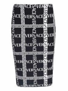 Versace Logo Printed Skirt