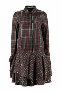 Fabiana Filippi Checked Cotton Shirtdress