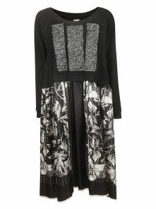 Antonio Marras Oversized Round Neck Floral Print Dress