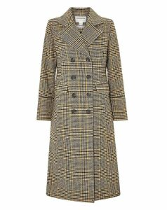 Monsoon Anika Check Maxi Coat