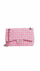 What Goes Around Comes Around Chanel Pink Tweed 2.55 Jumbo Bag