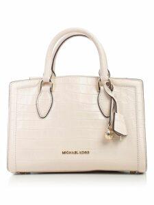 MICHAEL Michael Kors Zoe Md Satchel Soft Polished Leather