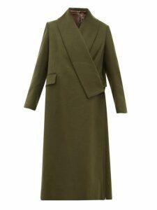 Golden Goose - Oversized Wrap Around Coat - Womens - Khaki