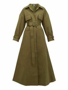 Jacquemus - Thika Cotton Twill Trench Coat - Womens - Khaki