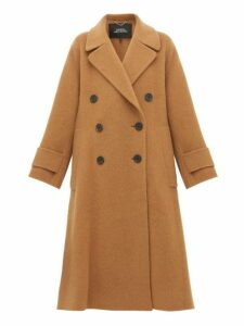 Marc Jacobs - Double Breasted Alpaca Blend Trapeze Coat - Womens - Camel